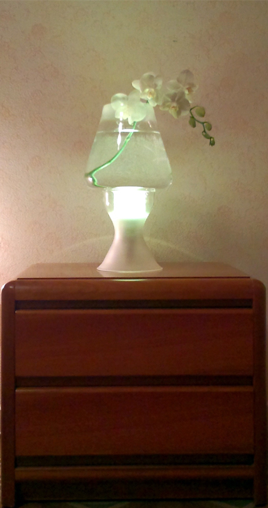 table lamp in blown glass handcrafted in Italy