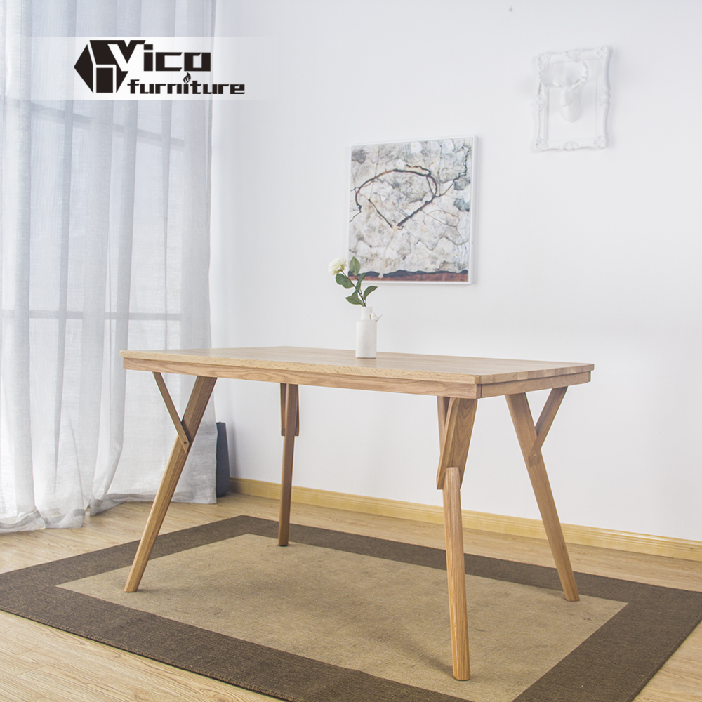 manufacturer popular restaurant living room dining furniture solid wood table