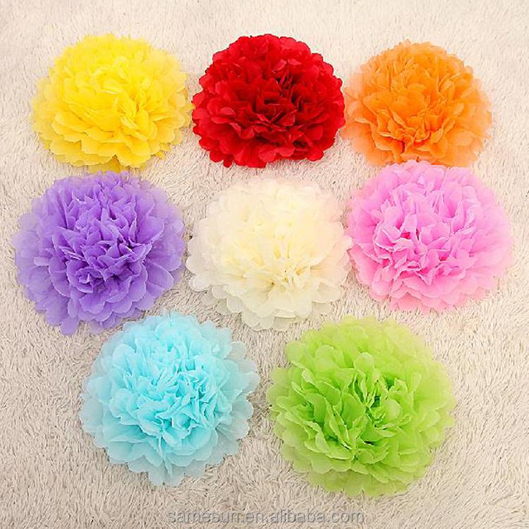 Mix Color Tissue Paper Flower Balls For Wedding Favors - Buy Flower ...