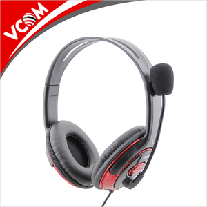 VCOM Fashionable Noise-canceling Computer Headset Wired PC Headphones with microphone and volume control