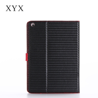 best products for import woven grain PU stand case tablet leather cover for iPad mini 4 with 5 credit card slots