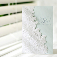 Fashionable and Elegant design wedding invitation with cut