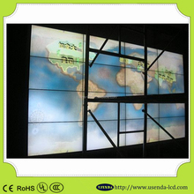 LCD tv show case new model advertising 46 inch Indoor seamless led video wall with original new Samsung 5.3mm panel