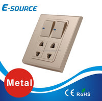 Wall switch socket white/golden/metal new design switch plate