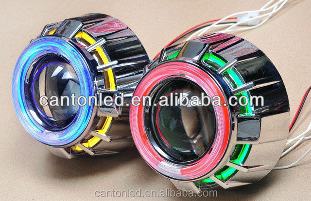 BIG sales bi-xenon hid projector lens light angel eyes for car