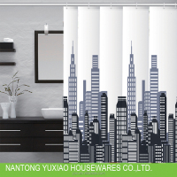 New fashion city patterns peva shower curtain for the bathroom accessories