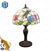 Stained Glass Tiffany Flower Lamp Table Lamp Home Decor Wholesale Price