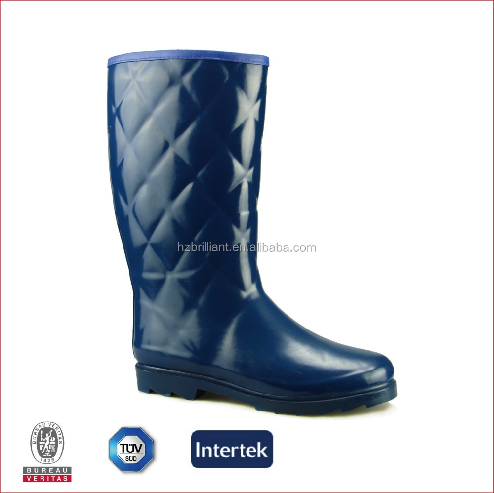 women cheap unique rain boots blue color