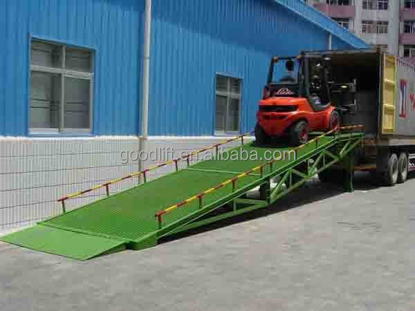 forklift container / truck loading mobile hydraulic ramp