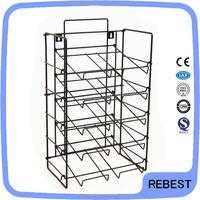Simple style comic book metal display rack