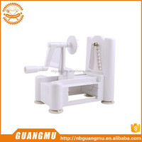 Plastic Spiral Vegetable Slicer, Turning Spiral Slicer With Three Blades