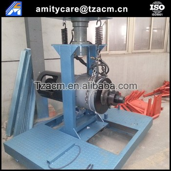 Prestressing hydraulic concrete pole tensioning jack machine