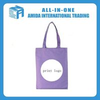 Cotton canvas custom logo printing shopping bag