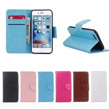 2016 new products Retro Leather cover TPU Case for iPhone 6 6S wallet case