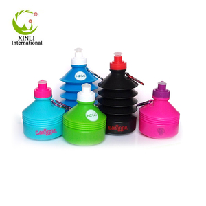 Custom Logo Safety Bpa Free Collapsible Plastic Drinking Water Bottle