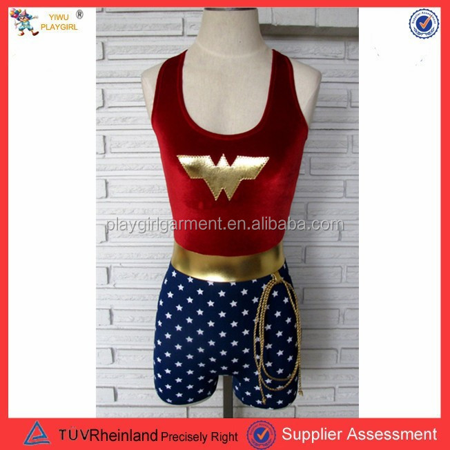 PGWC2207 Womens captain america costume ladies fancy dress super hero outfit UK 8-14
