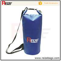 2016 Hot Selling Blue Waterproof PVC Tarpualin Dry Bag with Shoulder Strap for Boating Swimming