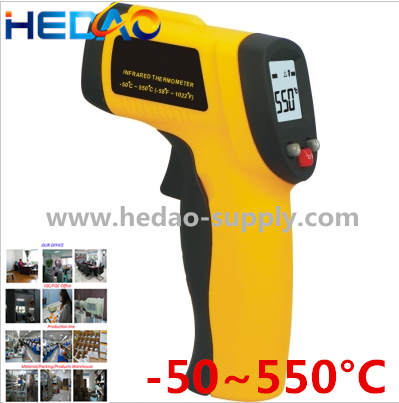 China best Selling Electronic Product Gun Shape Handled infrared Thermometer -50 - 550C