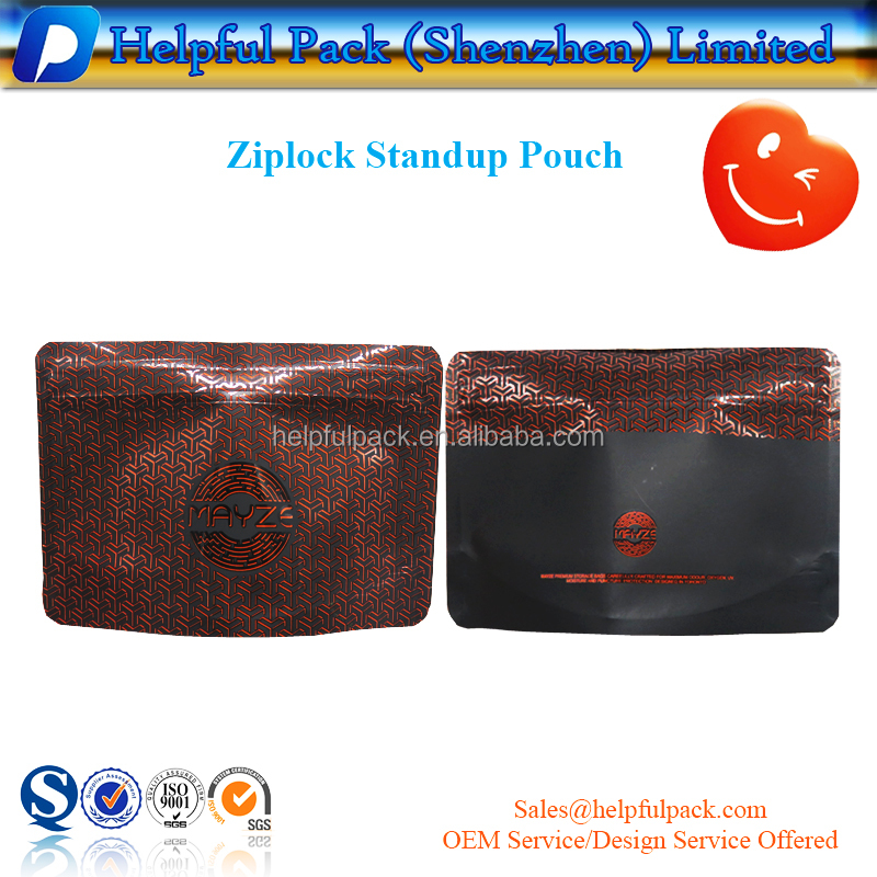 metallic color printed ziplock bag matte plastic standup pouch customized flat bottom bag
