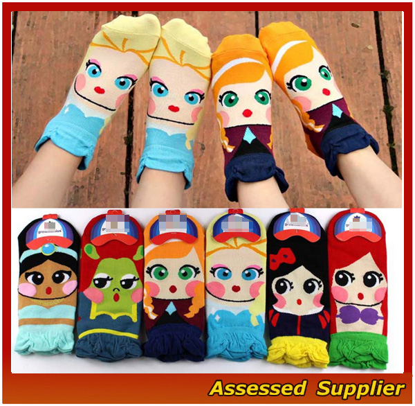 2017 Custom High Quality 100% Cotton Baby Cute Teen Boy Tube Socks Ankle Socks Cute Cartoon Character Socks