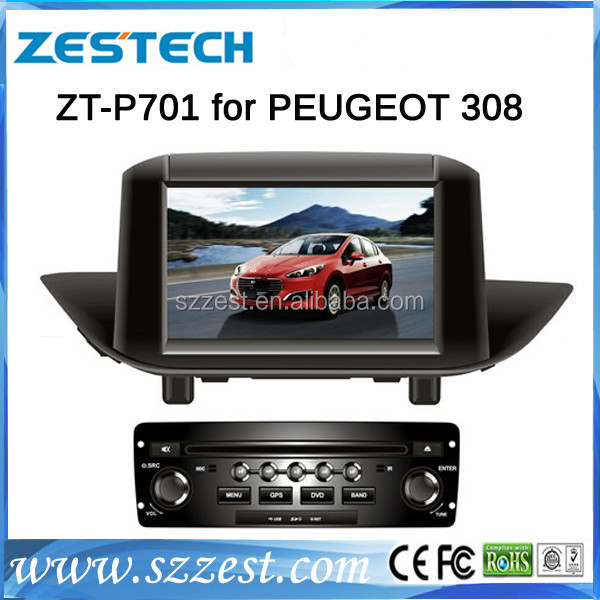 ZESTECH Brand new OEM car dvd player for Peugeot 308 dvd gps radio tv bluetooth system with 3g TV tuner