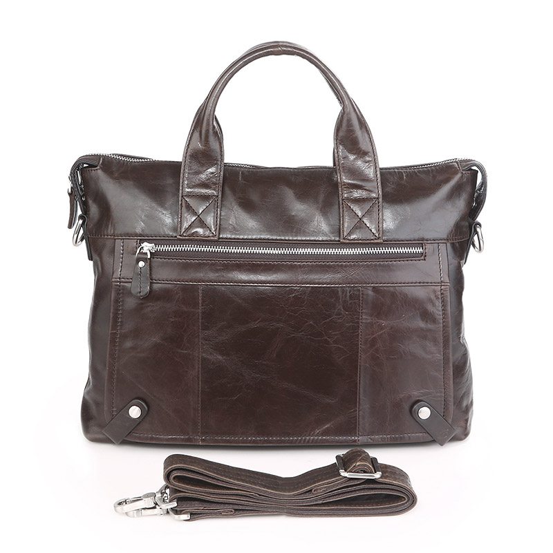 7120C-1 Factory Price Softly Leather Men Business Briefcase 2016 Online Shop