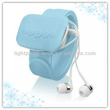 Protable mps music play funny flexible silicone wrist mp3 player back hand mp3 player