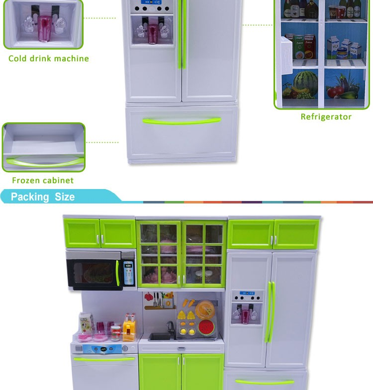 2016 funny happy plastic pretend kitchen playset for child