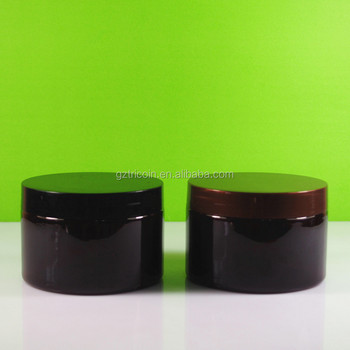 300ML black jar/300ML black plastic jar /300ML black body scrub jar