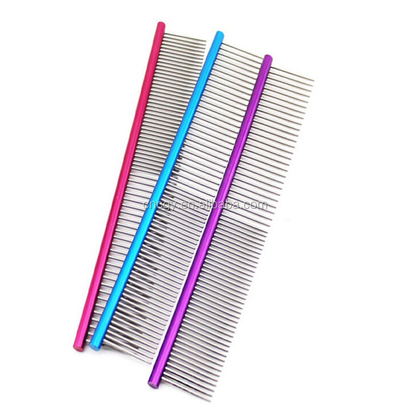 Cat Hair Removal Dog Combs Metal Straight Row Of Pet Supplies Dog Straight Row Pets Comb