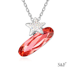 14698 2014 Crystal Fine Jewelry edelweiss necklace