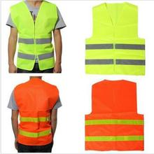 Wholesale 014 fluorescent yellow reflective vest traffic safety warning clothing riding construction sanitation reflective vest