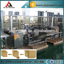 Good quality food grade stainless steel automaitc carton erector machine with ORMON eletric parts