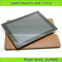 Tablet case cover leather pouch case for ipad 2 3 4 air mini ,for ipad sleeve ,for ipad case pouch