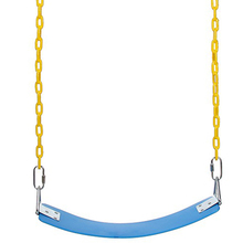 adults indoor flexible belt single seat kids swing with triangle rings