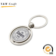 Metal Engraving Logo Rotating Key chain With Spinning Custom Logo