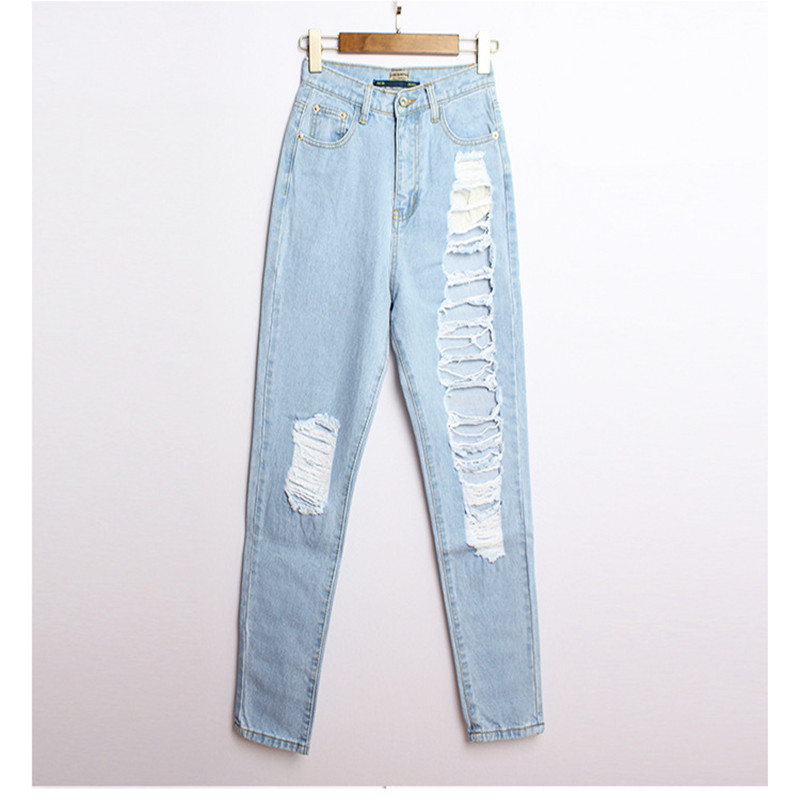 9c465c7e9bf Hot sale Women s ripped jeans Fashion boyfriend jeans for woman Loose hole  denim pants mid waist