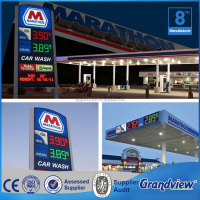 Best quality outdoor customized pylon sign with gas price sign for gas station