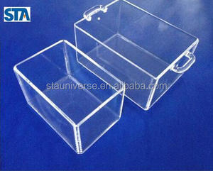 STA clear melting square quartz crucible with factory supply and free sample