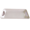 melamine dinner food plastic serving tray with handle cake platter