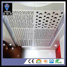 2017 NEW OEM CNC decoration metal aluminum carving panel board for suspended ceiling