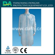 disposable surgical cover coat with buttons open