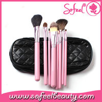 Sofeel Personalized Makeup Brushes Pink Emily Makeup Brush with Bag