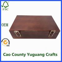 wooden home garden tool kit set storage box