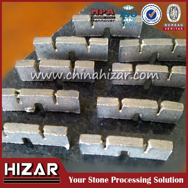 blade stone segment dimond core bit segment for concrete and stone
