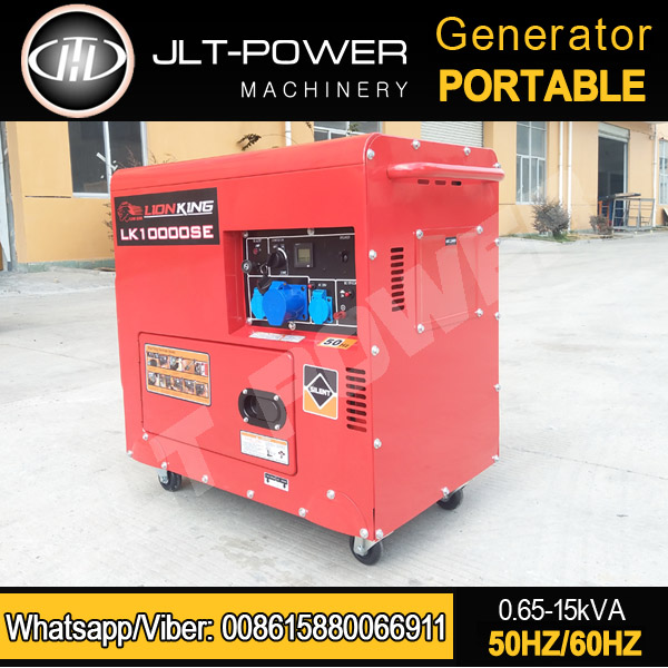 JLT Power 230 Volt Portable Generator Silent type 6kw 6kva MADE IN CHINA