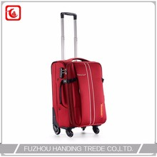Quality Customize Size Red Fiber Trolley Wheeled Travel Tolly Bag