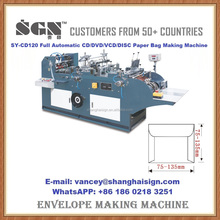 SY-CD120 Full Automatic CD DVD VCD DISC Paper Bag Making Machine