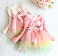 Fashion Korean Style Latest Girl Dress Designs Rainbow Fancy Dress Fashion Dresses For Children