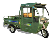 used cargo electric tricycle with cabin , chinese cargo